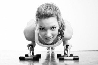 Fitness Training - Girl Doing Press Ups